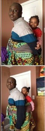See the adorable moment late Pius Adesanmi backed his daughter, Tise