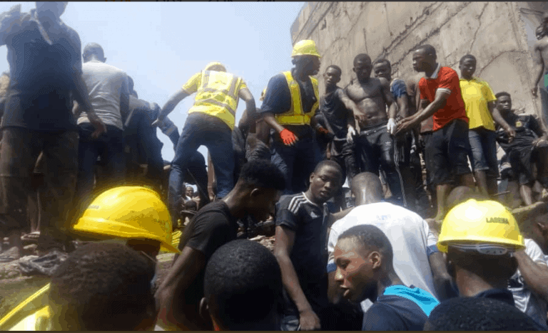 Photo of See reason why man who lost three kids in Lagos collapsed building wants to commit suicide