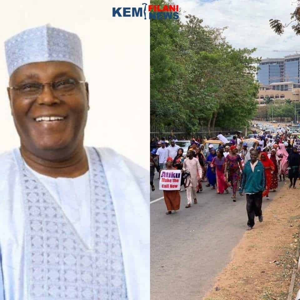 Two million women hit Abuja streets, beg Atiku to concede defeat