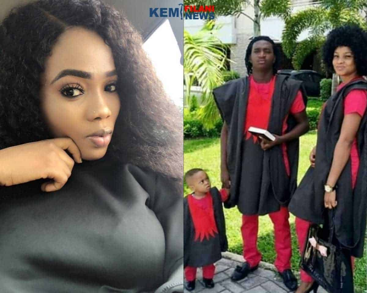 Nollywood actress, Bukola Adeeyo's babydaddy exposed, he is a Yahoo boy!