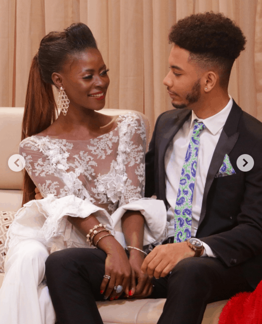 Photo of Ex-BBNaija stars, Khloe and KBrule share photos from secret wedding