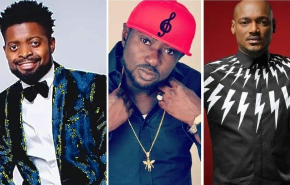Photo of 2face versus Black face: See Basketmouth's response to diss track, War (Video)