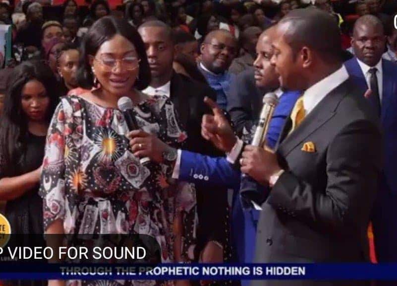 Photo of Oge Okoye in deliverance session with South African Pastor Lukau who staged a fake resurrection miracle (Viral Video)