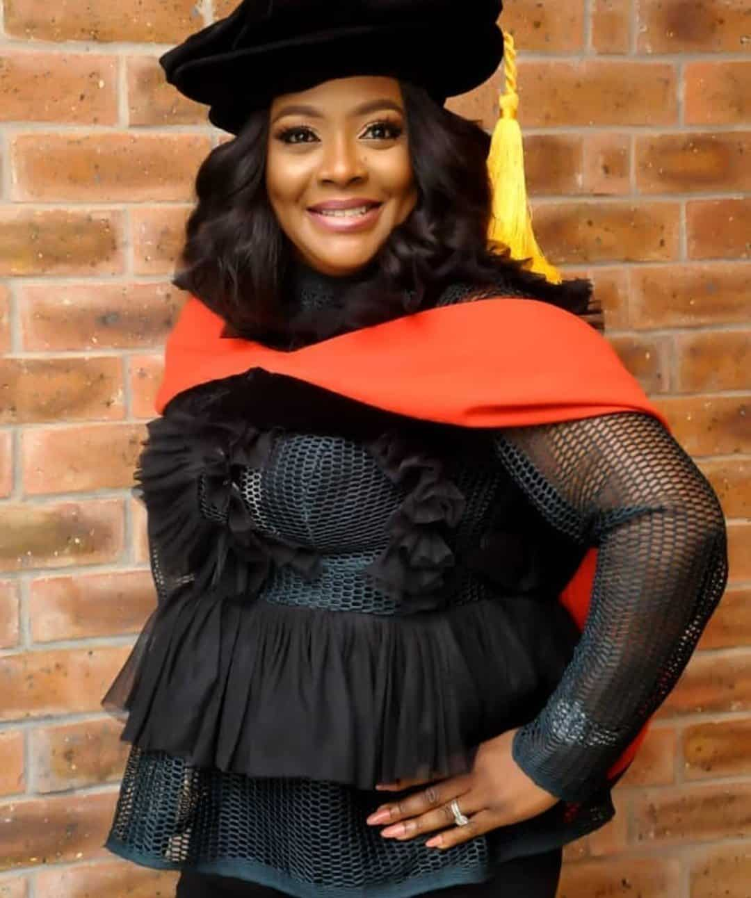 Photo of Comedian Helen Paul excited as she's about to become a Ph.D holder