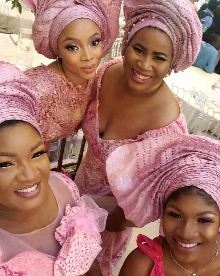 Photo of All the Asoebi guests at media mogul, Mo Abudu's daughter's wedding (photos)