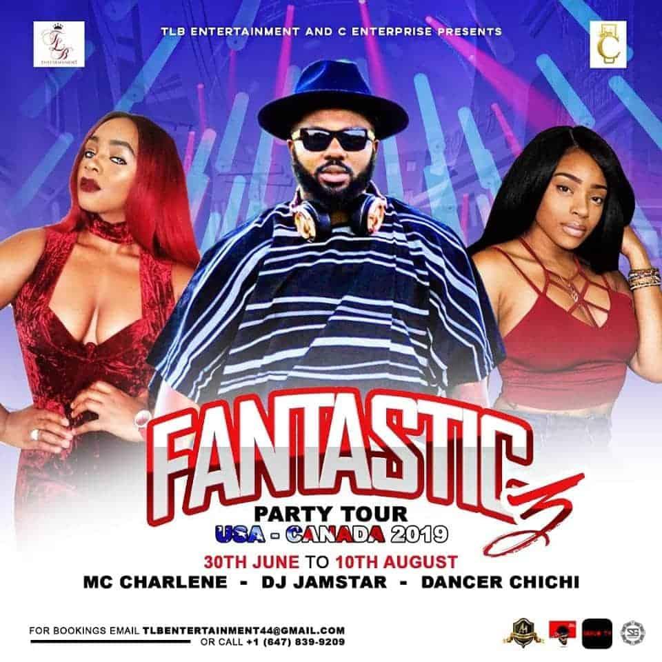 Photo of MC Charlene set to go on 'Fantastic 3 Party Tour USA-CANADA' along side DJ Jamstar & Dancer Chi-Chi   DETAILS