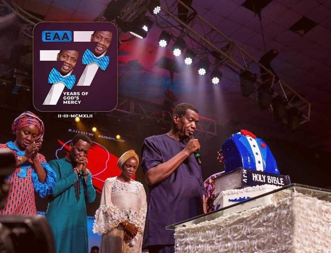Photo of Day God drank tea with me – Pastor E.A Adeboye marks 77th birthday (photos)