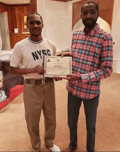 Photo of Buhari's son, Yusuf completes NYSC after surviving powerbike crash injury (photos)