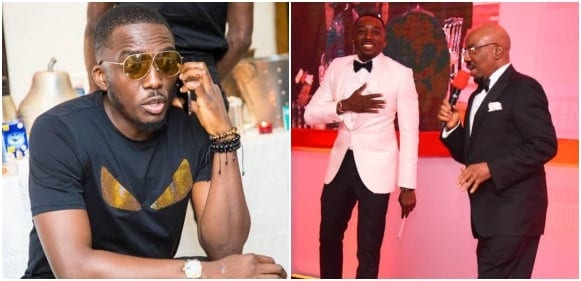 Photo of Day Zenith bank chairman, Jim Ovia gave Bovi N5M on stage