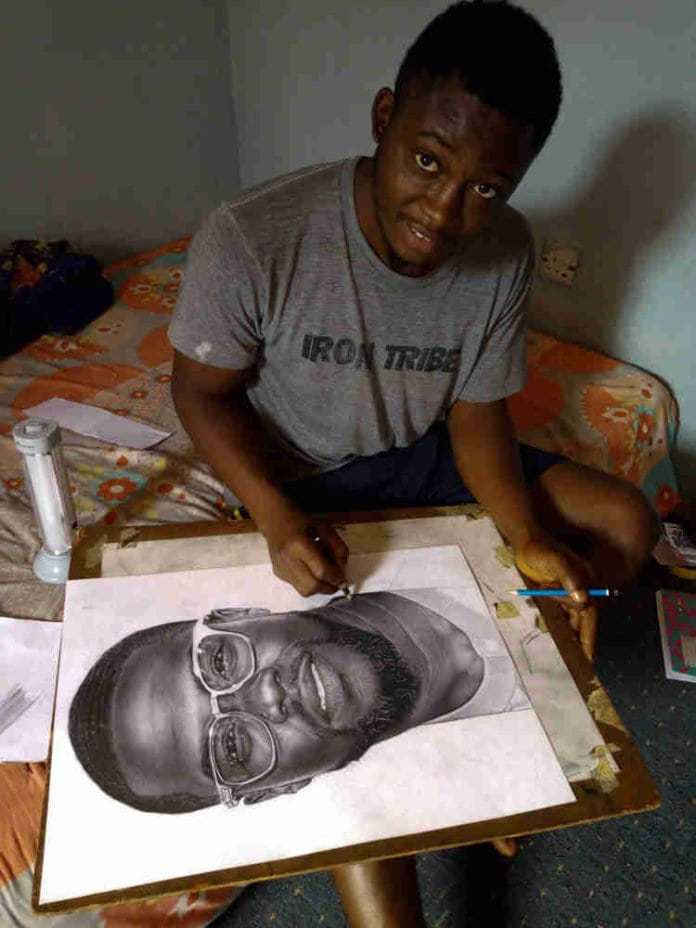 Photo of How American Actor Kevin Hart treated Young Nigerian artist who drew him (photos)