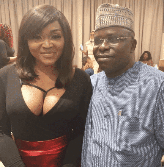 Photo of How Mercy Aigbe showed up at Kwam 1's party (photos)