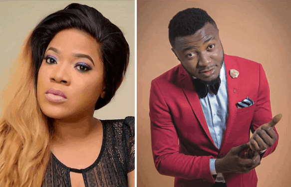 Photo of All you should know about MC Galaxy and Toyin Abraham's fight over 'unclad' photo