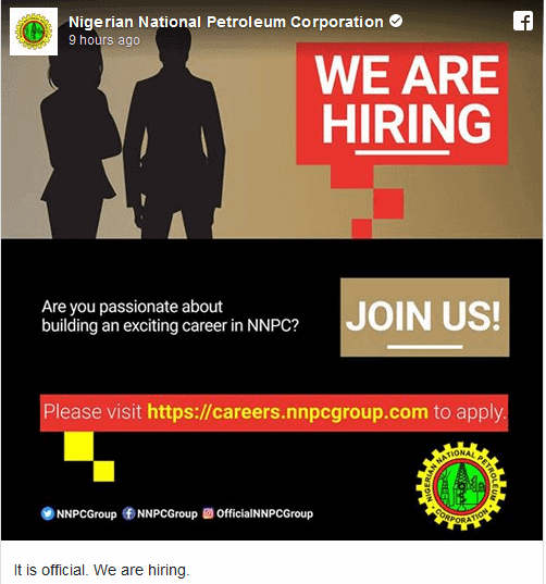 Photo of NNPC begins recruitment  days after presidential election (full details)