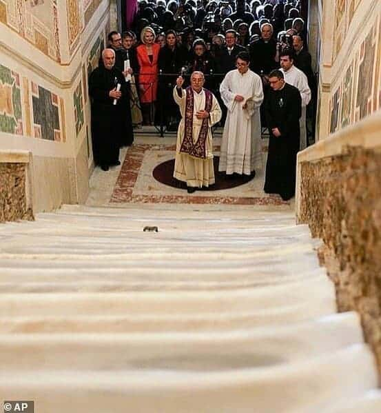 Photo of Holy stairs Jesus climbed before his crucifixion unveiled after 300 years (Photos)