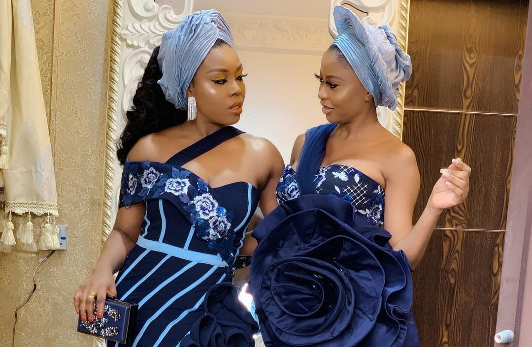 Photo of Celebrities step out in gorgeous Asoebi styles for TV girl, Tomike Alayande's wedding (photos)
