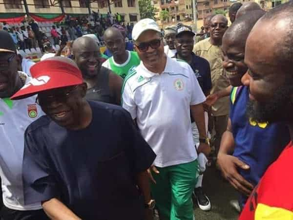 Photo of Ex-Super Eagles players play novelty match to celebrate Tinubu on his 6th birthday (Photos)