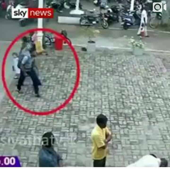 Watch CCTV footage of suicide bomber entering a Church in Sri Lanka
