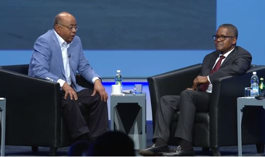 Photo of Watch the Aliko Dangote interview with Mo Ibrahim that everyone is talking about