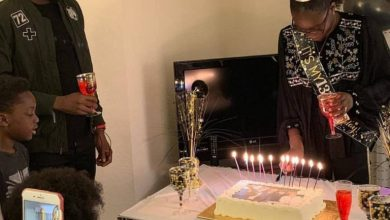 Photo of 2face Idibia surprises first daughter with Pero Adeniyi, on her 13th Birthday (photos, videos)