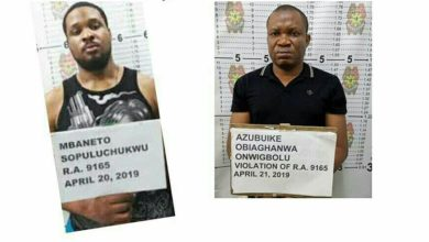 Photo of Two Nigerians nabbed with N125m worth of drugs in Philippines