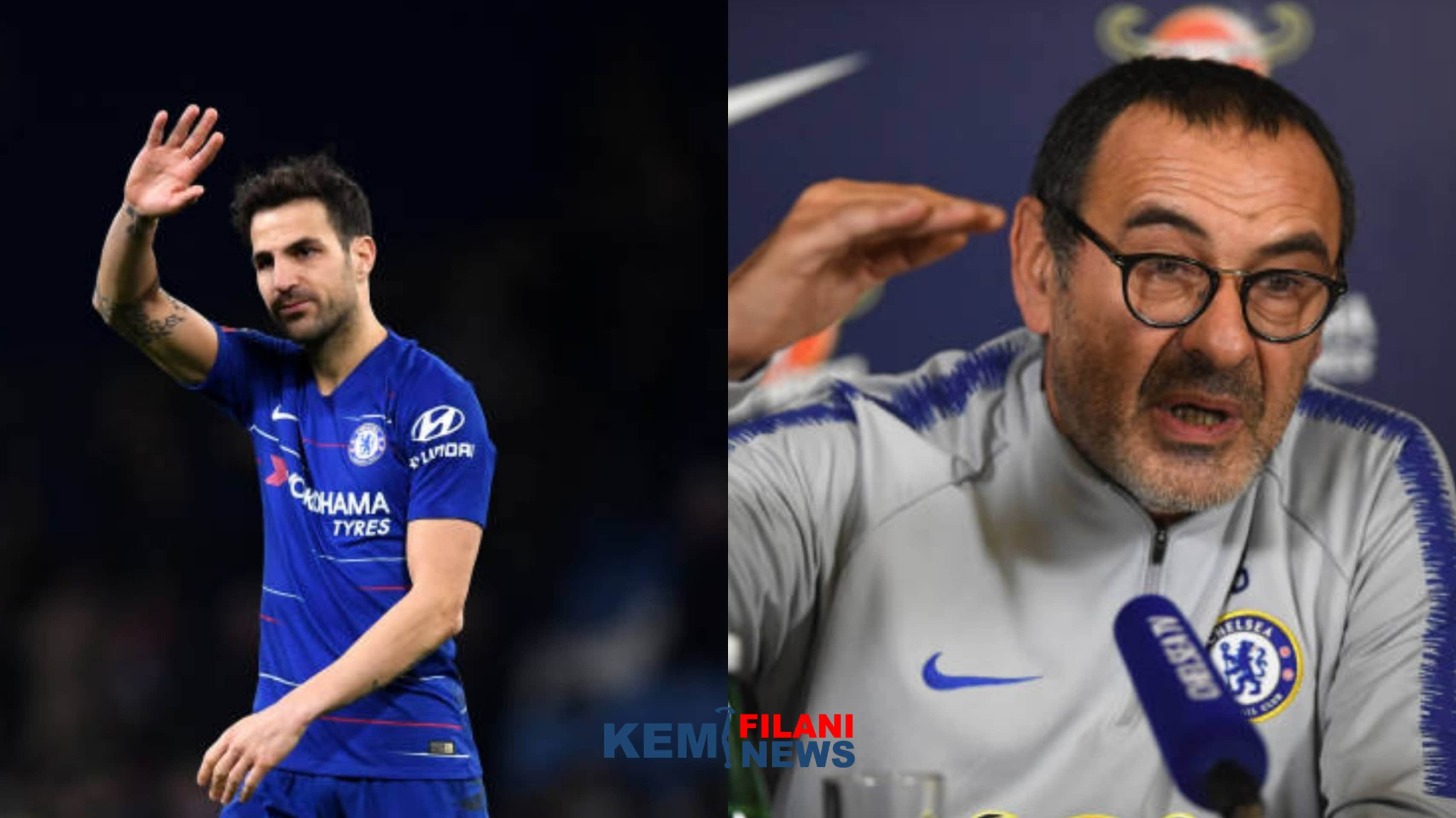 "Photo of Fabregas blames Sarri's ""son"" for his Chelsea exit"
