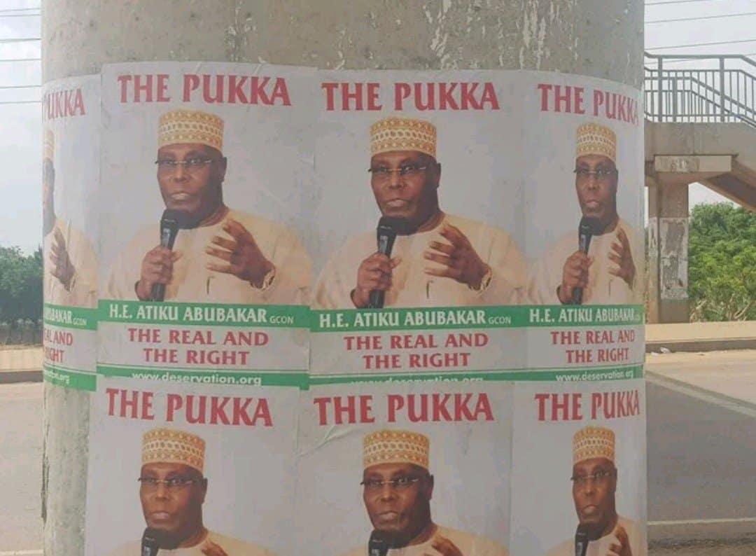 Photo of Controversial Atiku posters flood Abuja (Photos)