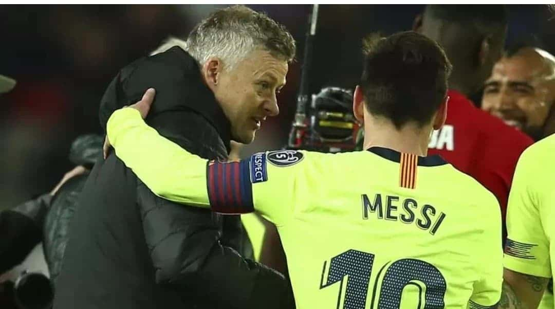 Photo of What Solskjaer told Messi after Man United defeat to Barcelona