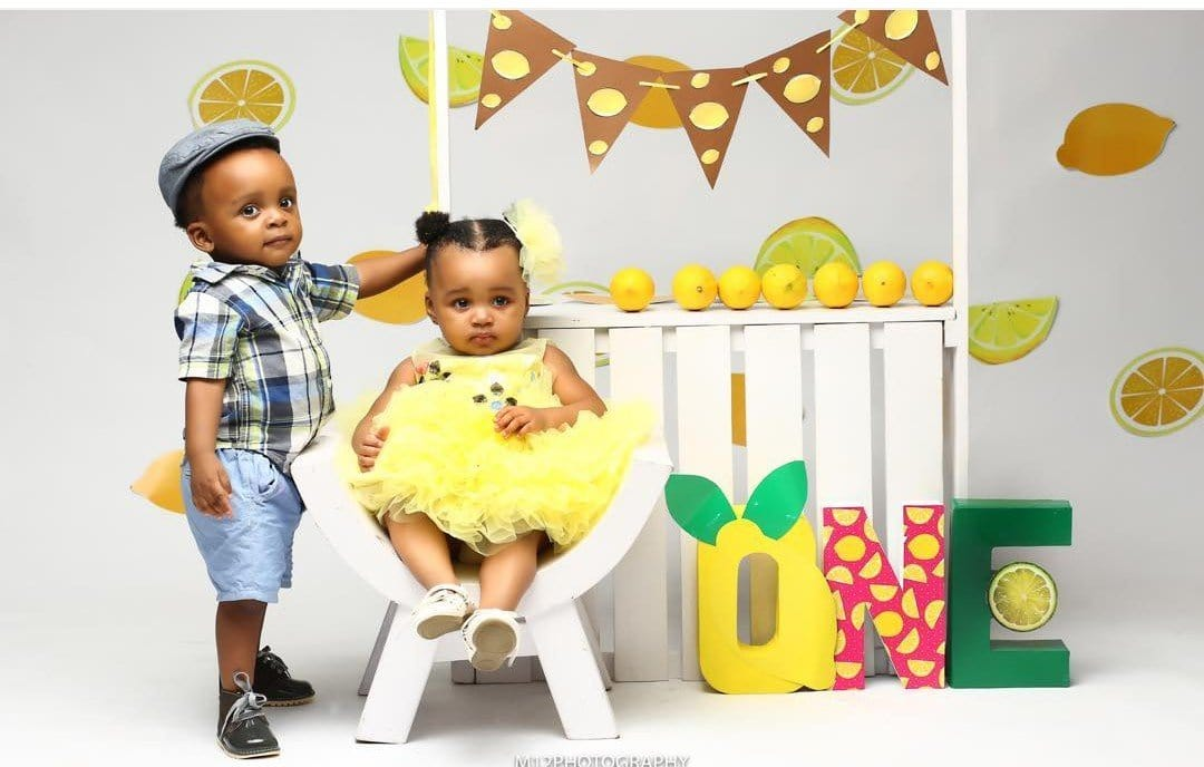Photo of Akpororo celebrates his twin babies as they clock one