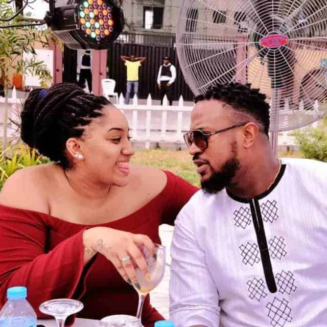 Photo of Mofe Duncan's wife reacts to news of breakup