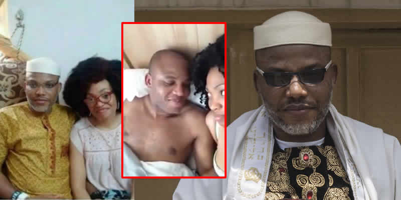 Photo of Identity of woman in bed with Nnamdi Kanu in viral video revealed