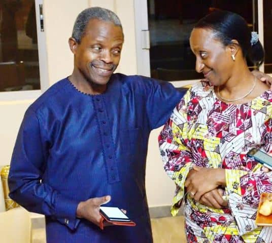 Photo of Osinbajo reveals the kind of life his wife loves