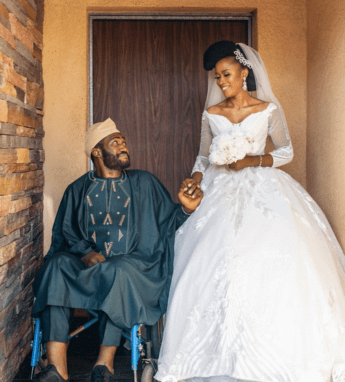 Photo of Emotional love story of a groom who had an accident two days after proposing to his wife (photos)