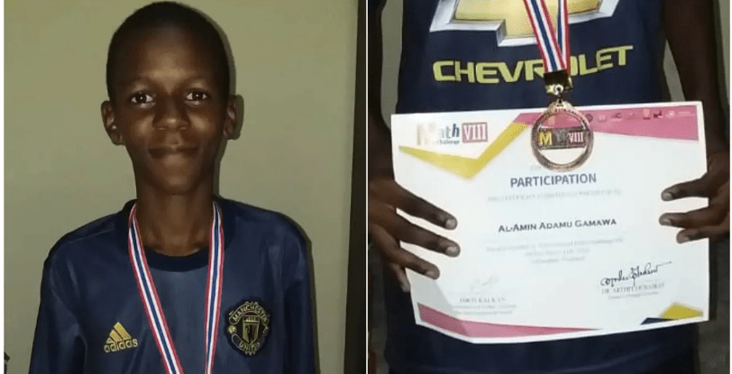 Photo of Nigerian student, Al-Amin Adamu Gamawa wins bronze at international maths quiz