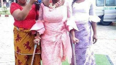 Photo of Bride storms her wedding with Crutches after surviving fatal accident few days earlier
