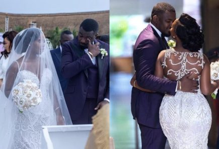 John Dumelo accused by fans for faking tears at his wedding