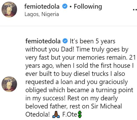 How I sold my house, borrowed money from my dad to do business - Femi Otedola