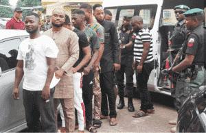 In Lagos, EFCC apprehend 8 'Yahoo boys' seizes cars