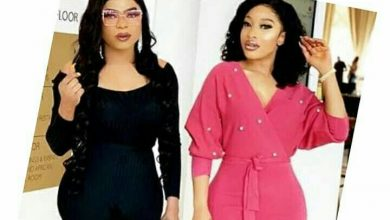 Photo of Tonto Dikeh allegedly pregnant For Bobrisky, she reacts