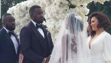 Photo of John Dumelo  and wife hold white wedding (photos, videos)