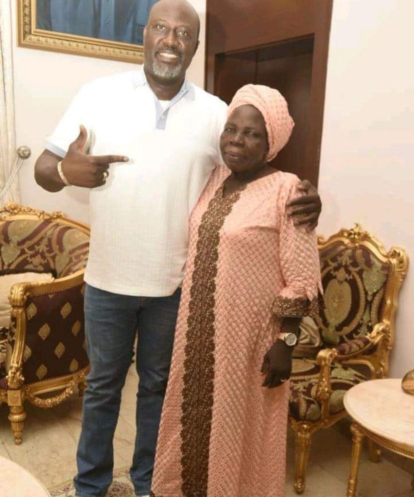 Dino Melaye and mother