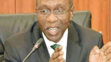 Photo of Godwin Emefiele nominated for a second term by Buhari