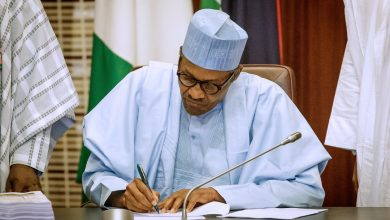 Photo of Saraki and Dogara hurt the country for holding budget for 7 months – Buhari