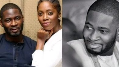 Photo of Teebillz mocks Tiwa Savage as he celebrates their son on Children's day