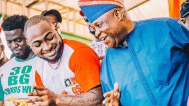 Photo of Davido reacts to his uncle, Ademola Adeleke's arrest