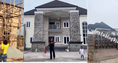 Photo of Busted? Alleged Real owner blasts blogger Okoro Blessing for claiming his house