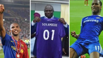 Photo of Match For Ambode: Drogba, Eto'o, other football legends set to feature