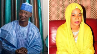 Photo of Nasarawa governor, Abdullahi Sule, ditches new wife, picks first wife as first lady