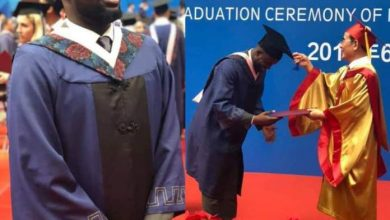 Photo of Sen. Orji Kalu's aide bags most outstanding student award in Chinese university