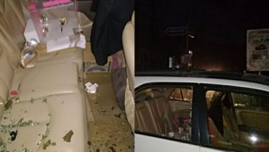 Photo of Man releases photos of what happened to his car within 12mins of using an ATM in Abuja