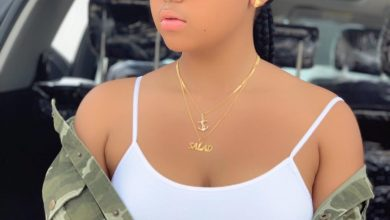 Photo of Regina Daniels is studying hard for her final exams (photo)